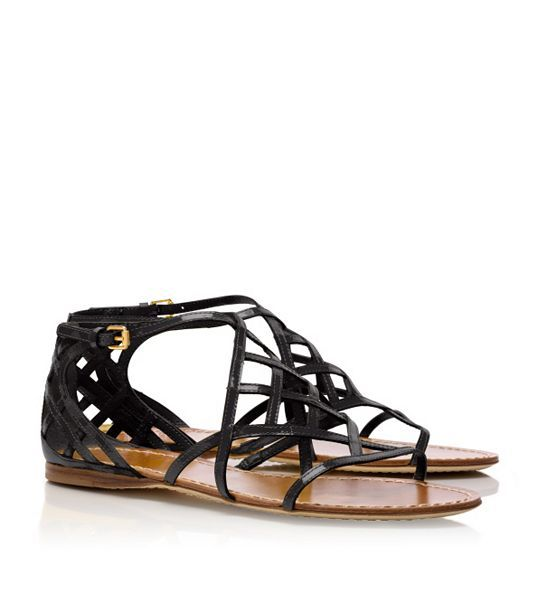 Tory Burch Amalie Patent Leather Sandal (want in gold)