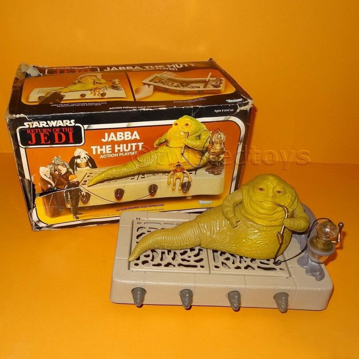 VINTAGE 1983 KENNER STAR WARS RETURN OF THE JEDI ROTJ JABBA THE HUTT BOXED RARE in | eBay