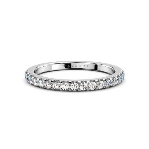 Women's Chelsea Pave Diamond Platinum Ring – 1/4ct diamonds