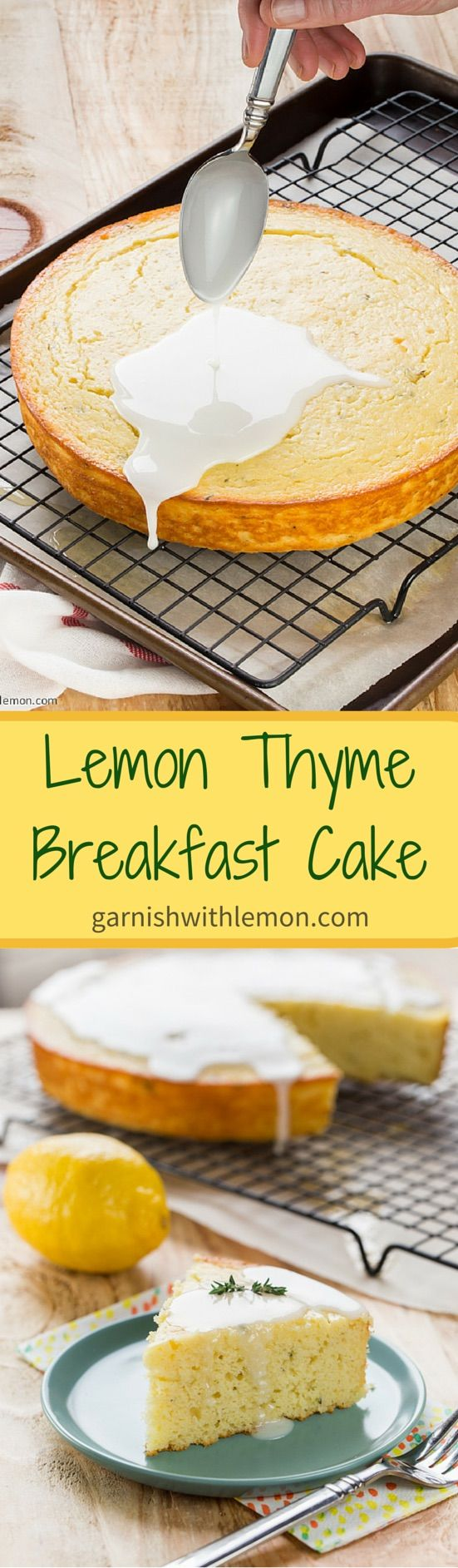 Lemon Thyme Breakfast Cake ~ Celebrate the arrival of Spring! http://www.garnishwithlemon.com
