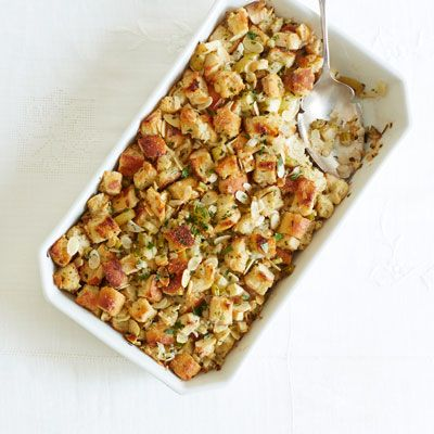 Herb and Apple Stuffing Recipe - Good Housekeeping #apples #stuffing #thanksgiving