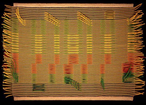 Paola Besana - design tessile. Tessuto a trame lanciate e dislocate con cavi elettrici.