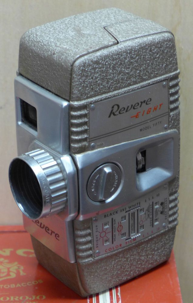Vintage Revere Eight Model Fifty 8 mm Film Movie Video Camera #Revere