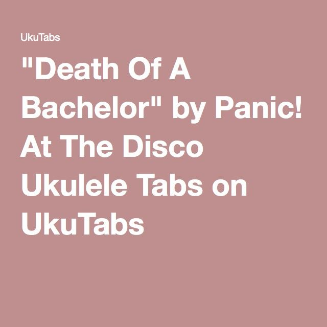 Ukulele ukulele tabs northern downpour : Turn Off The Lights Panic At The Disco Guitar Tabs ...