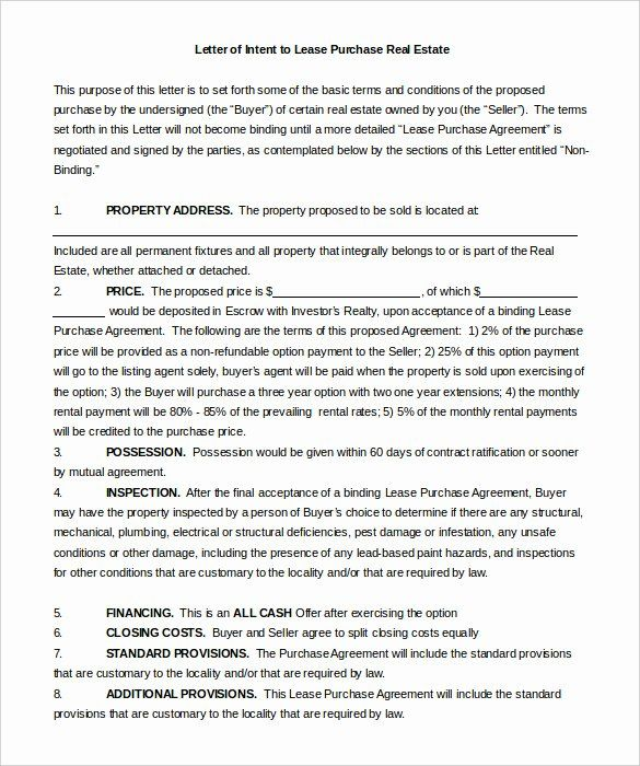 Intent To Sell Form Lovely 11 Real Estate Letter Of Intent Templates Pdf Doc Letter Of Intent Lettering Purchase Agreement