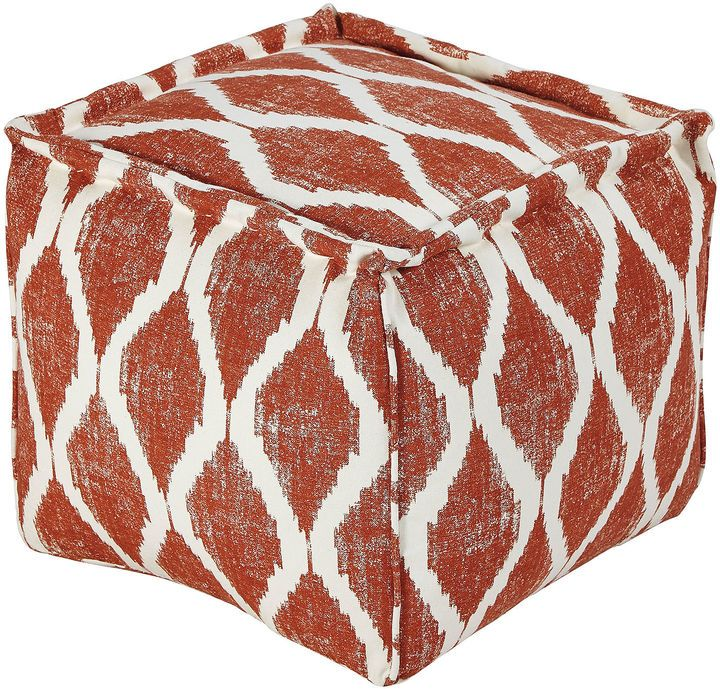 Give your home an updated touch with our geometric Bruce pouf. rich geometric pattern durable handmade construction soft cotton EPS bead fill 18.5x18.5x17.25H spot clean imported Signature Design by Ashley is a registered trademark of Ashley Furniture Industries, Inc