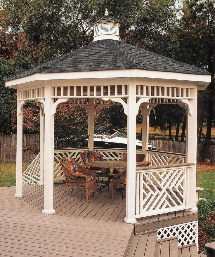 how to build a gazebo into a deck