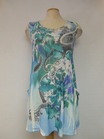706 AQUA Pretty Woman Tunic – Silhouette Fashion Boutique