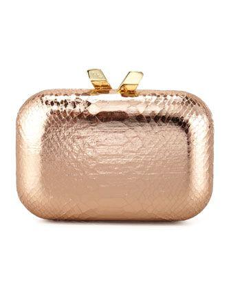 3e1e2951ef2f Gold Handbags: Gold Rose Clutch