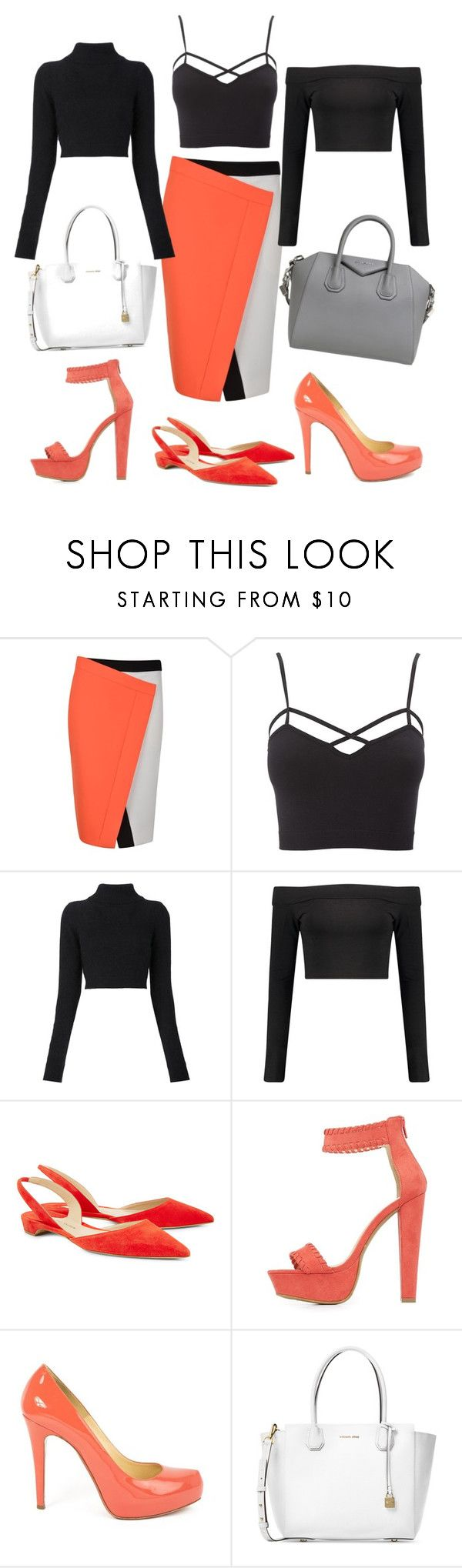 """Feature Item: FENDI Skirt"" by lady-g-graphics ❤ liked on Polyvore featuring Fendi, Charlotte Russe, Balmain, Boohoo, Paul Andrew, Christian Louboutin, Michael Kors, Givenchy and plus size clothing"