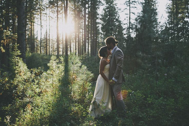 Great light for a highlight video...wow! boise idaho forest wedding. sara k byrne photography