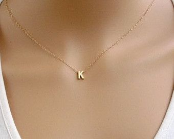 Gold necklace personalized Gold filled personalized by AlinMay
