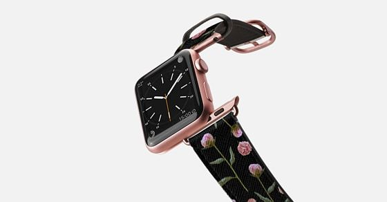 Peonies on Black Apple Watch Band (42mm)   by Lisa Argyropoulos | Casetify