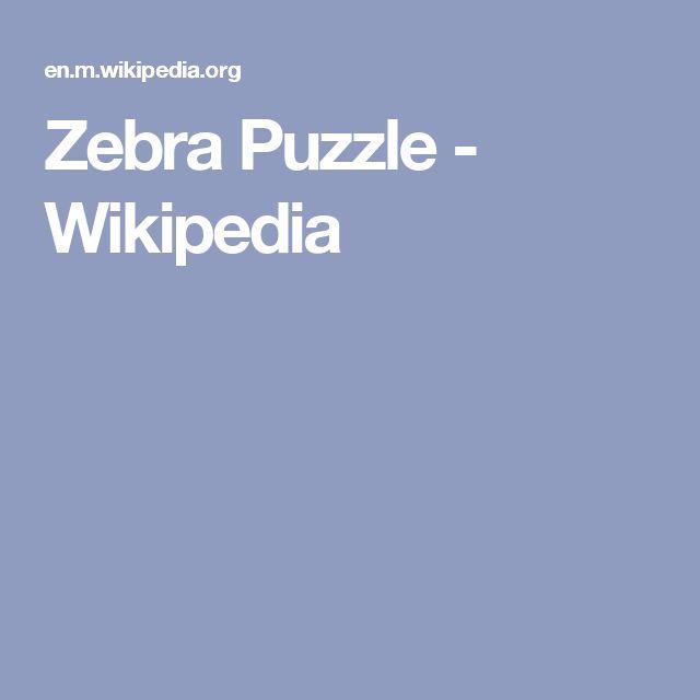 Zebra Puzzle - Wikipedia
