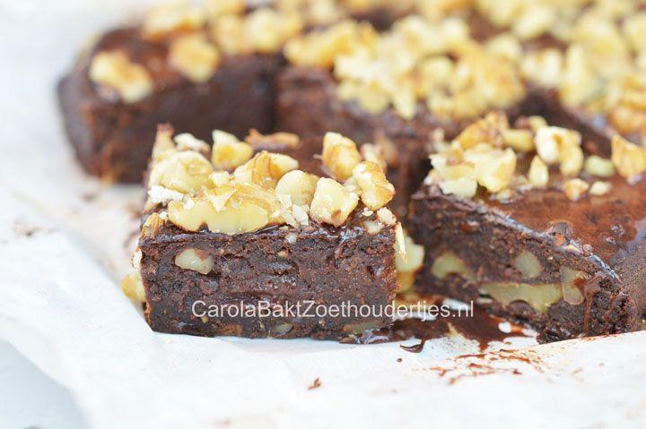 Zoete aardappel brownies van Rens Kroes, gezonde brownies, brownies zonder suiker, brownies van Rens Kroes, met walnoten, vetvrije brownie, gezonde recepten