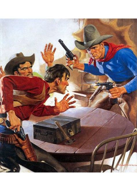pulp western art | Pulp Art: Western / - The quick and the dead, a saloon shootout.