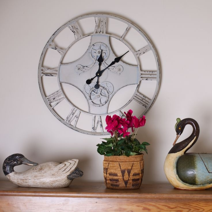 Large Vintage Style Clock #gifts #vintage #clock #time