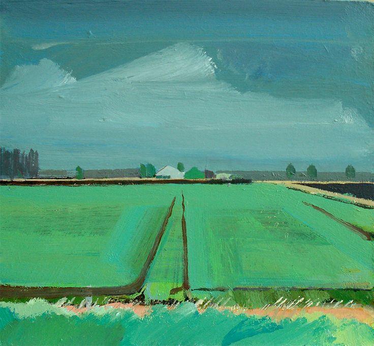 Spring Barley, Methwold Fen Landscape art, Abstract