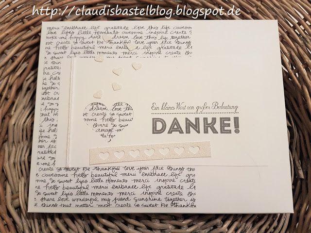 Eine DankesSchoki lieb verpackt mit dem EPB oder auch Stanz- und Falzbrett für Umschläge genannt