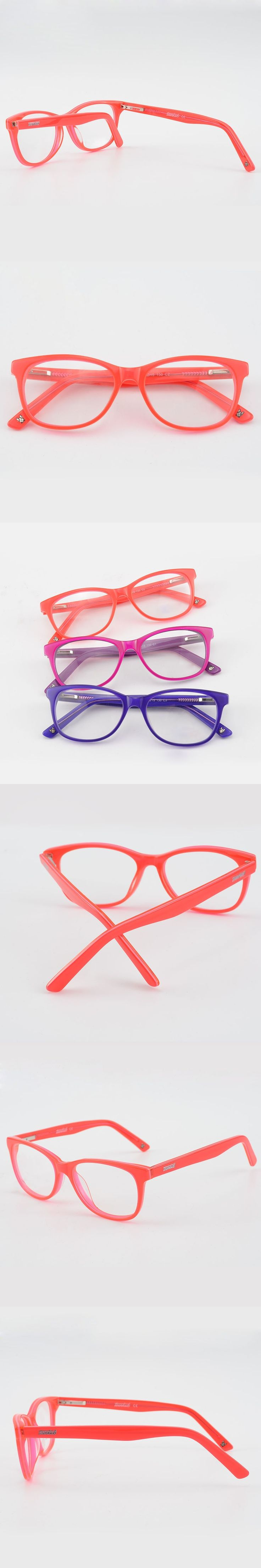 Cool Kids Glasses Frames Boy Girl Rectangular Kid's Eyeglasses Nerd Acetate Flexible Children Plastic Clear Lens