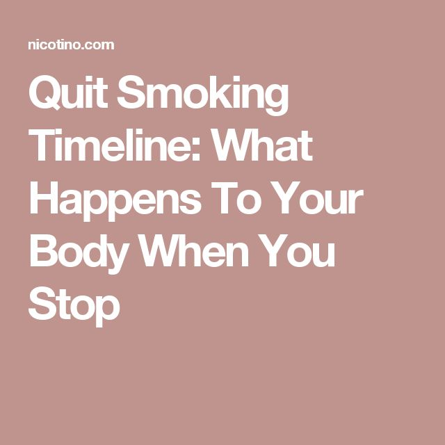 Quit Smoking Timeline: What Happens To Your Body When You Stop