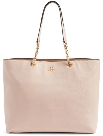 Tory Burch Frida Pebbled Leather Tote - Beige