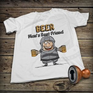 Funny T-shirt - Beer- Man's Best Friend
