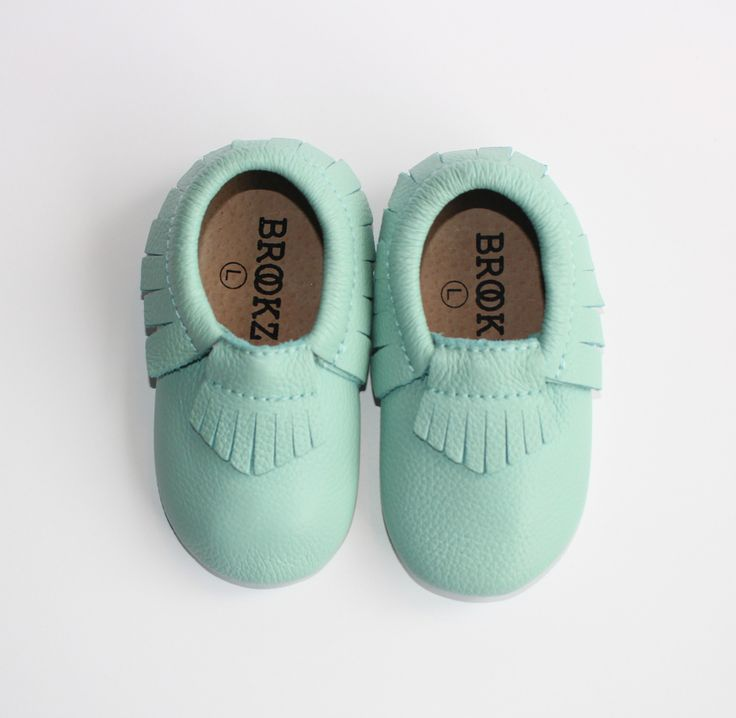 "Brookz ""Mint"" Moccasins - brookzbabycompany  *COMING SOON*     100% Genuine Leather  The Brookz mocc's have the classic and timeless design with elastic opening. As 100% Genuine Leather they are soft but built to last! Inside is a soft but lasting sole to make every step the most comfortable for your little. More information on sizes and colors will be released nearer to pre-sale opening  www.brookz.co"