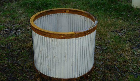 Rustic Planter Pot or Wood Holder