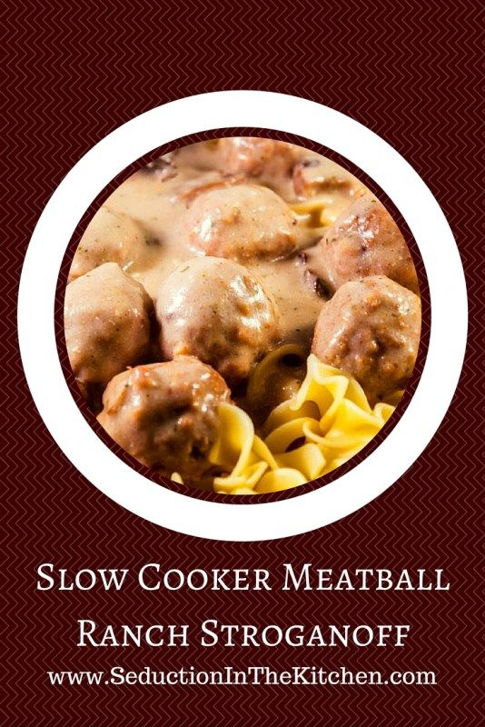 slow cooker meatball ranch stroganoff # sundaysupper slow cooker ...