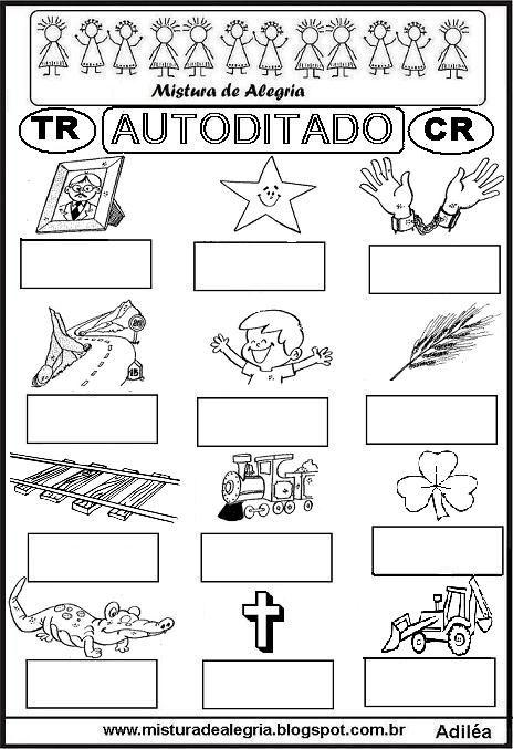 autoditado-letra-CR-TR-alfabetizacao-imprimir-colorir.JPG (464×677)
