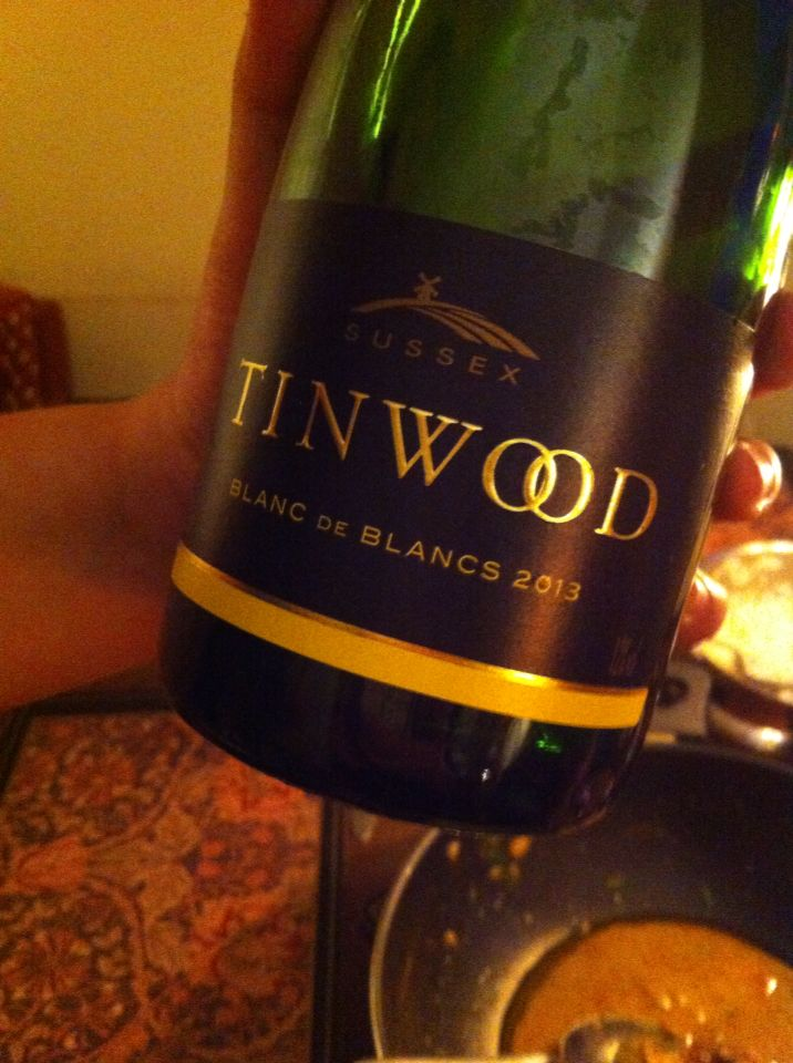 This is a delicate sparkling wine from the Tinwood vineyards in Sussex. Who needs champagne?
