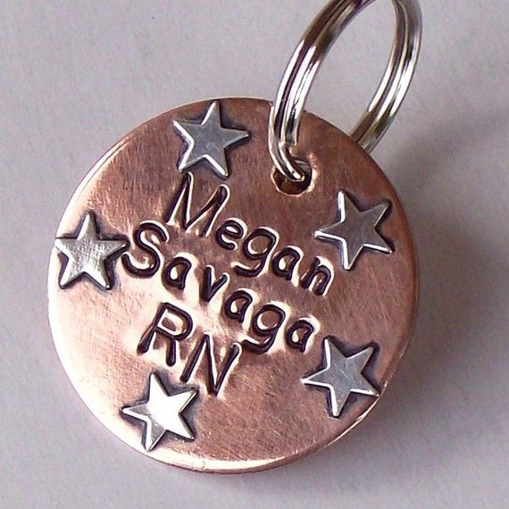 Personalized STETHOSCOPE ID TAG Handmade Copper and by UrbanPuppy