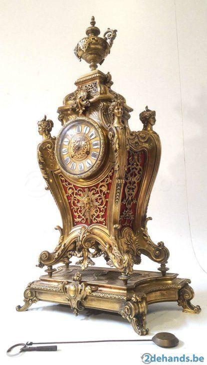 Klok rare Ancien Antique Horloge Pendule Cheminnée 19s. - 75
