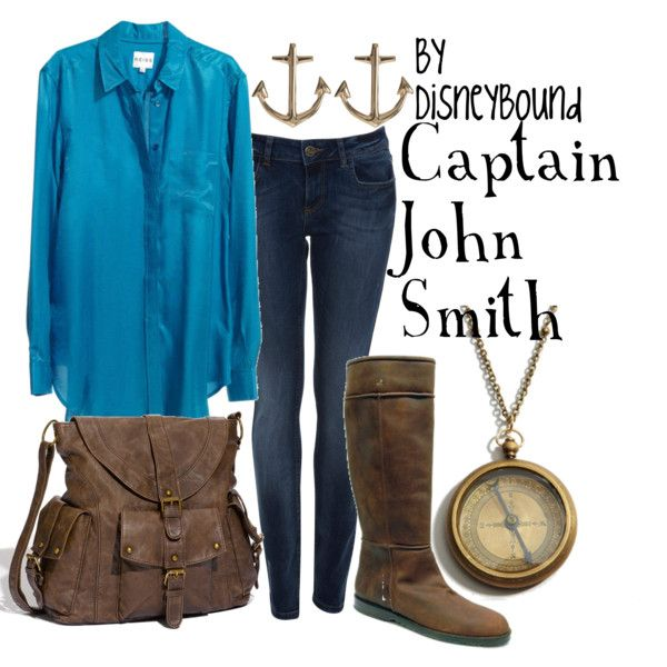 """Captain John Smith"" by lalakay on Polyvore. everything except the boots"