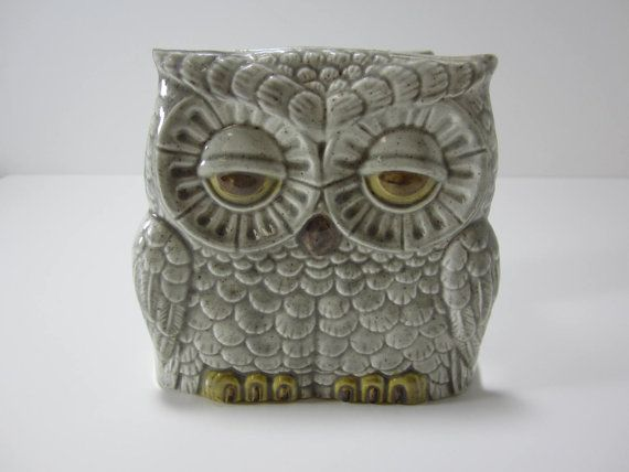 Ceramic Owl Napkin Holder from the 1970s