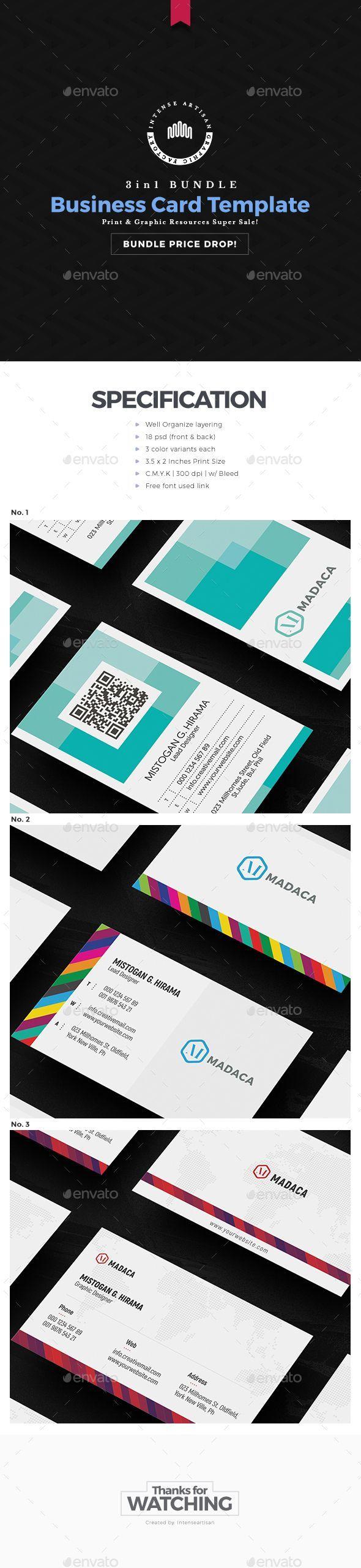 Mejores 53 imágenes de Business Card Template en Pinterest ...