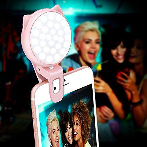 low priced fe79c ee614 Clip On Selfie Light, OURRY Rechargeable Kitty Fill In Camera Ring ...