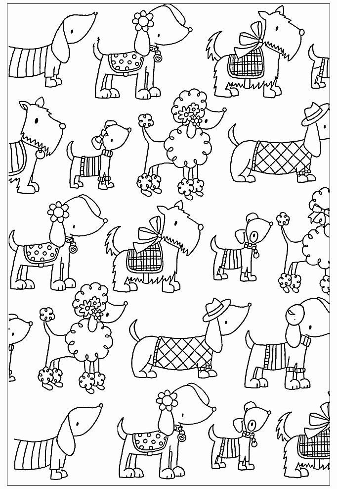 Coloring Pages For Adults Simple In 2020 Dog Coloring Page Easy