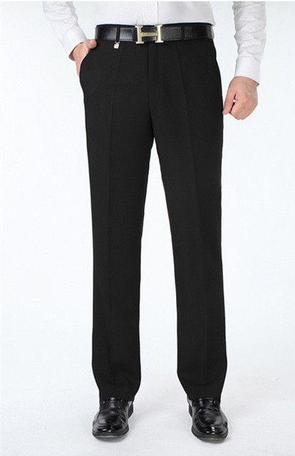 Silk Dress Pants For Men Autumn Winter Men's Suit Pants Big Size Male Dress Trousers Formal Classic size 29-44