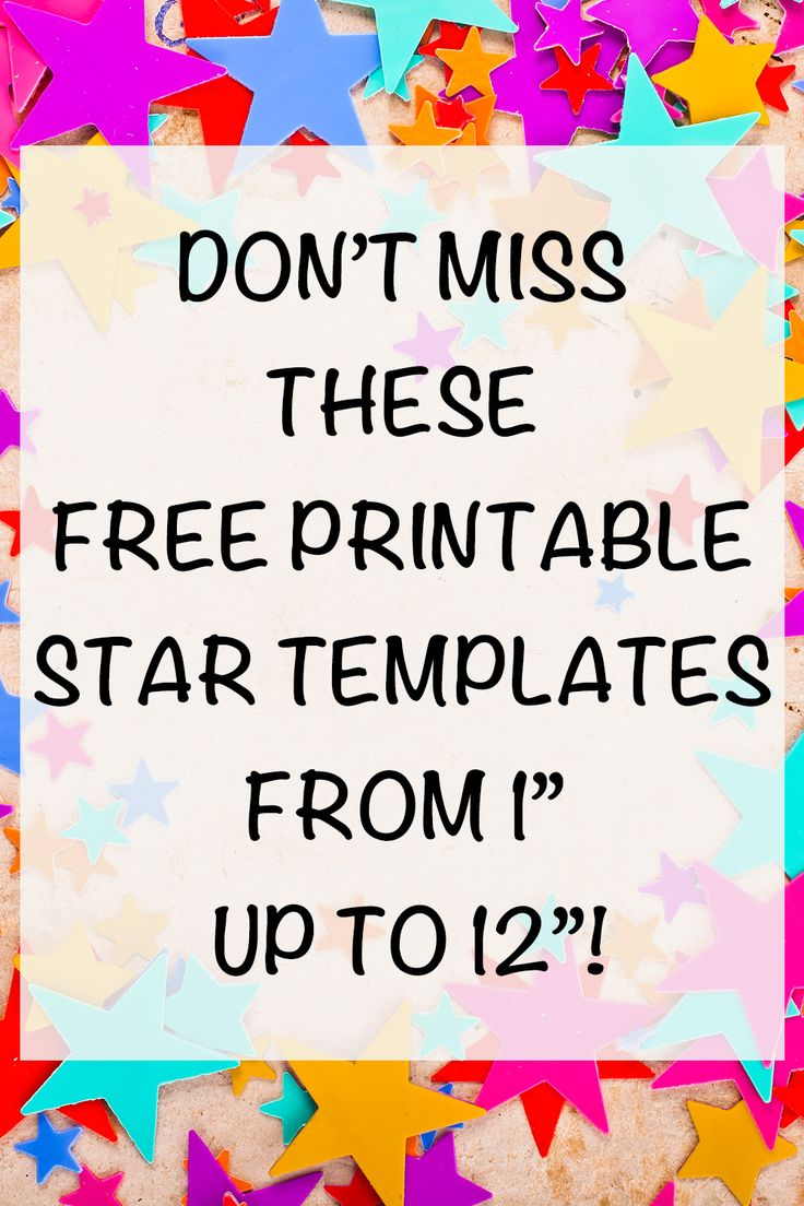25+ Free Printable Star Templates (& extra large star