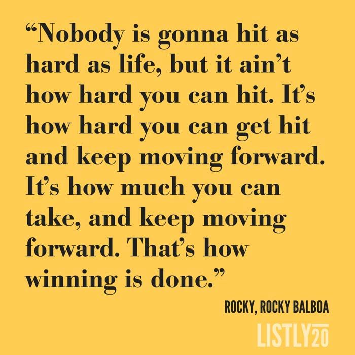Rocky Balboa Life Is Hard Quote: 14 Best Images About Quotes From Famous Actors And Movies