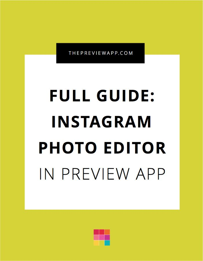 Here is a full guide of the Instagram Photo Editor inside Preview App. All the photo editing tools you need to make an Instagram Theme. Enjoy!
