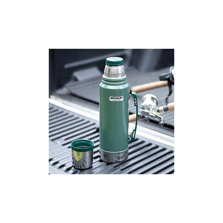 HUSKY ESPAÑA - Vacuum Bottle 1L - EL ORIGINAL. Pocos tienen la fidelidad de nuestro siguiente Clásico Icono Verde. La elección que figura entre obreros de la construcción hasta campistas, y mantiene su café caliente durante todo el día desde 1913. Lo último en durabilidad viene coleando por generaciones hasta la actual - STANLEY