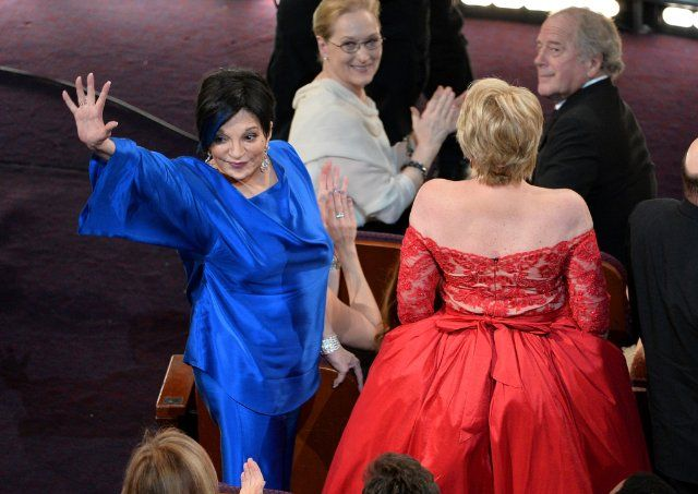 Lorna Luft and Liza Minnelli at event of The Oscars (2014)