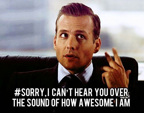 Bahahaha #suits Suits USA #harveyspecter #gabrielmacht