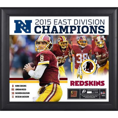"Redskins NFC Champions | Washington Redskins 2015 NFC East Division Champions Framed 15"" x 17 ..."