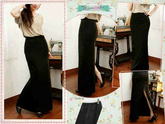 Slit Skirt Bahan : wedges scuba ,pinggang full karet. Size : fit L Hrg: 65rb  Invite pin: 26BCB119 SMS: 089660776162