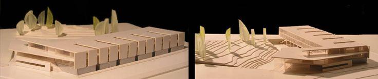 IFA, CENTRO DE EMPRESAS, MÁLAGA. Ignacio de la Peña DIMENSIONES: 30 x 39 cm   ESCALA: 1/500   MATERIALES: Cartomat 1mm, Invercote, policarbonato, jabón de glicerina.