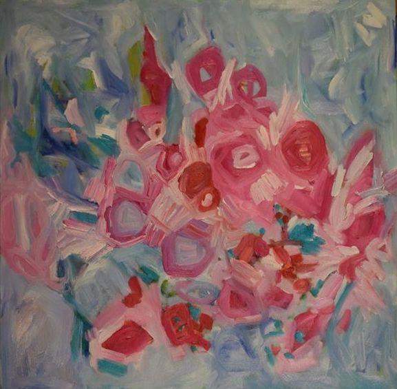 Baby's Breath ll  Geraldine Gillingham Oil On Canvas  24x24